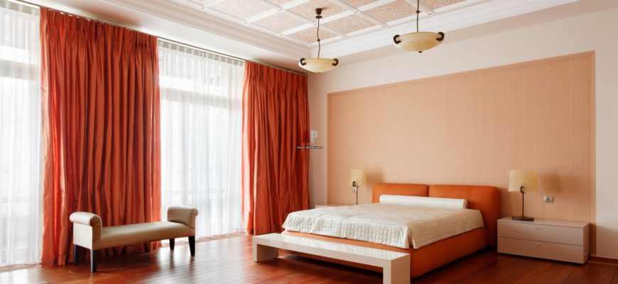 украсить потолок в спальне