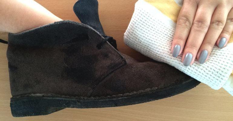 восстановить замшевую обувь