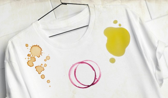Как отстирать футболку от жирных пятен без повреждения цвета