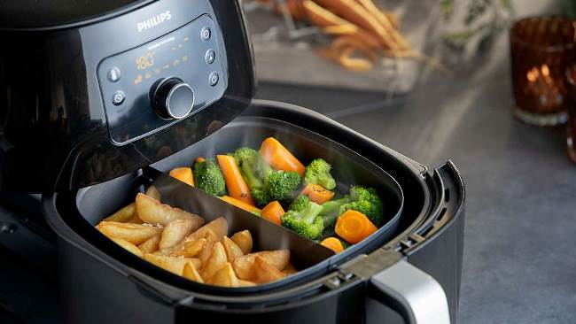 Приготовление пищи происходит без использования масла