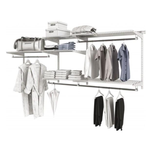 хранение вещей в гардеробной системе