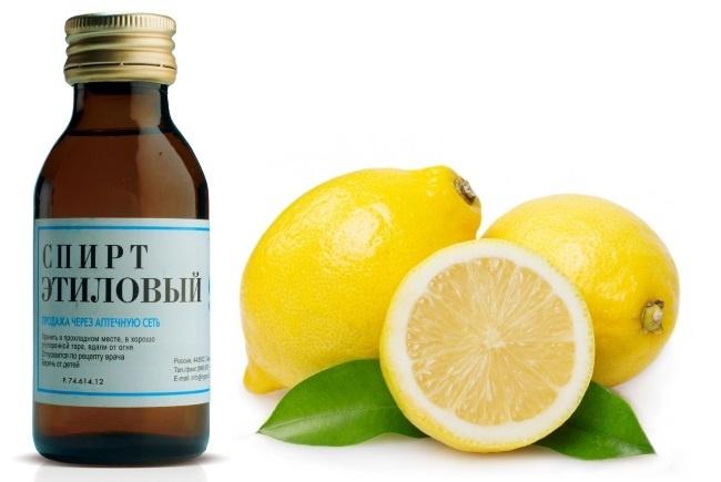 Смыть зеленку с кожи поможет спирт, смешанный с лимонным соком
