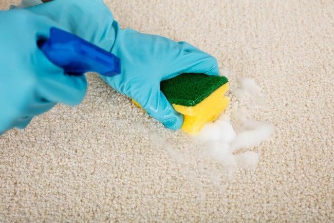 Как очистить ковер от пластилина