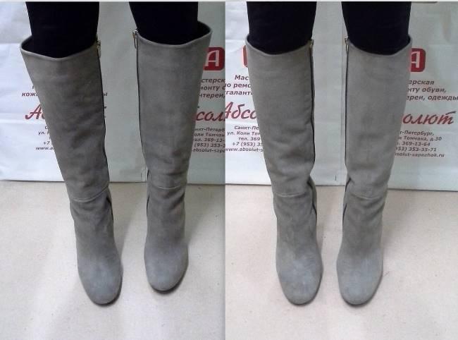 Как уменьшить размер обуви из кожи и замши дома