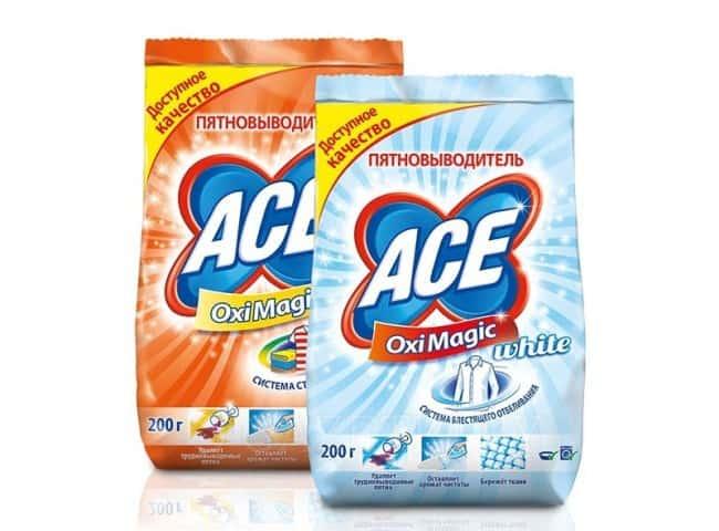 Отбеливатель Ace: принцип действия, обзор линейки средств