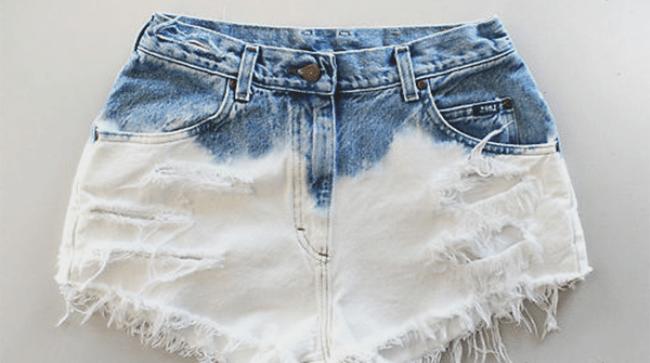 Отбеливание джинса доступными способами и средствами